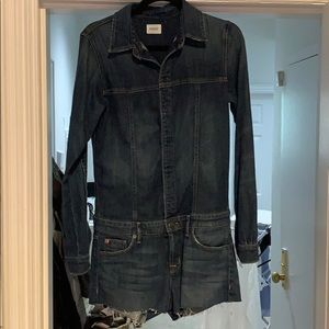 NWT Hudson long sleeve jean romper.